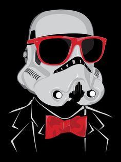 Hipster Trooper Art Print by BomDesignz Celebrity Glasses, Celebrities With Glasses, Four Eyes, Lent, Dark Side, Baddies, The Darkest, Sci Fi, Star Wars