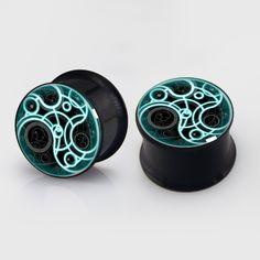 Dr Time  Seal  EarsplugsBlack Titanium Flesh by EarsPlugs on Etsy