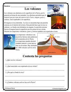 Ciencias Los volcanes. Dos idiomas es un sitio web de suscripción para educadores de inglés y español. Suscríbete y recibe un sinnúmero de páginas para descargar.