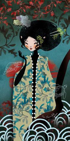 The Modern GEISHA ✿ :: Geisha Illustration by Anna Ziliz