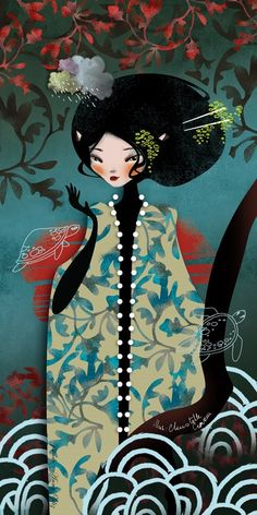 The Modern GEISHA ✿ :: Geisha Illustration by Anna Ziliz