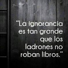 La ignorancia es tan grande #Instagram de #proZesa Instagram frases instagram proZesa