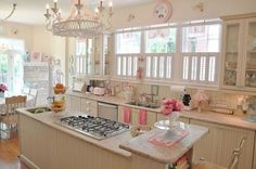 pretty, pretty pop of pink in the kitchen
