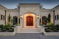 The Oaks - Mediterranean - Exterior - by Katz Builders, Inc. Classic House Exterior, Classic House Design, Dream House Exterior, Dream Home Design, Modern House Design, Cottage Exterior, House Outside Design, House Front Design, Mediterranean Style Homes