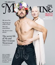 The Times Editorial Cover Vivienne Westwood Andreas Kronthaler Fashion Designer Portrait