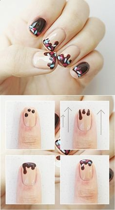 chocolate nail art yummy nail art