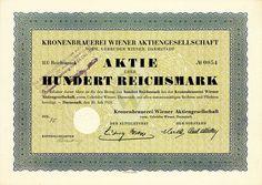 Kronenbrauerei Wiener, Darmstadt, Gründeraktie von 1931 + NICHT ENTWERTET!