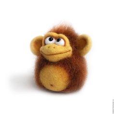 Купить Обезьянка-приз конкурса коллекций. Валяная игрушка. - год обезьяны, новый год 2016, обезьянка, обезьяна