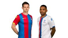 Crystal Palace maintain their red and blue stripes on both their home and away kits for 2015/16
