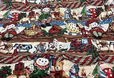 Christmas Cotton Fabric  Raggedy Ann/Andy  45 in wide  1 yard
