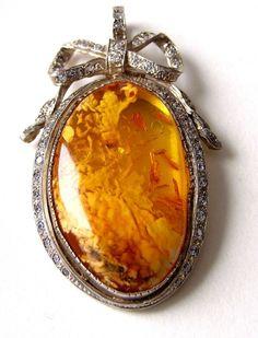 Bursztyn, srebro, cyrkonie #amber