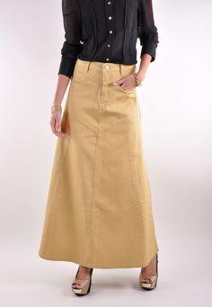 Sandy Dandy Long Denim Skirt