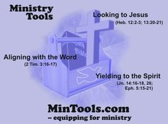 God has provided the ministry tools and resources we need to wisely and effectively serve using our spiritual gifts. Any equipping ministry must also use and promote these ministry tools for training and encouraging God's servants.