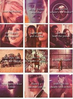 Depressing Doctor Who poem :( it's kind of hard to read over the pictures but it's a good one