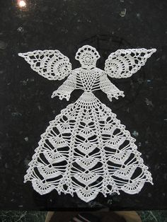Best 12 Ravelry: Angel Doily pattern by Connie Ellison Crochet Angel Pattern, Crochet Angels, Crochet Doily Patterns, Thread Crochet, Crochet Motif, Crochet Designs, Crochet Crafts, Crochet Doilies, Crochet Stitches