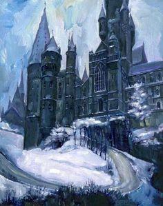 Hogwarts painting *stunning*