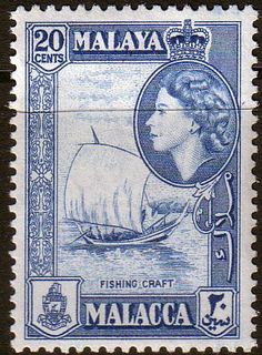Malay State of Malacca 1957 SG 45 Fishing Craft Fine Mint SG 45 Scott 51 Condition Fine MNH Only one post charge applied on multipule purchases