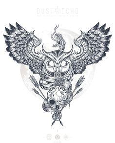 Dust & Echo (Glaube an der Stella / Macht in Zahlen) – Tattoo Welt Buho Tattoo, Et Tattoo, Transférer Des Photos, Owl Tattoo Chest, Estilo Tribal, Dibujos Tattoo, Tatuagem Old School, Bild Tattoos, Chest Piece