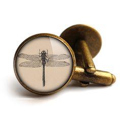 Vintage Dragonfly Cufflinks ER03 by rubyspiritdesigns on Etsy, £16.00