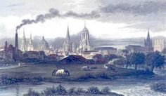 Oxford - copper engraving after J. le Keux, 19th century
