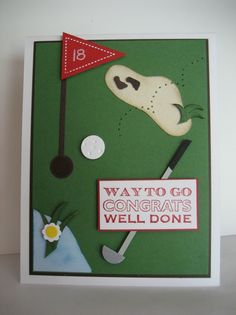 Who doesn't know someone into golf.  What a great father's day card also.