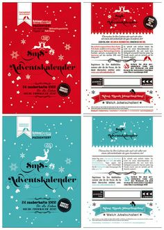 SMS advent calendar in form of postcards by Schiess Gestaltung. http://t-h-i-n-g-s.blogspot.com