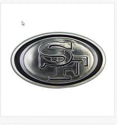SAN FRANCISCO 49ER'S NFL AUTO- CAR CHROME 3-D EMBLEM #SanFrancisco49ers