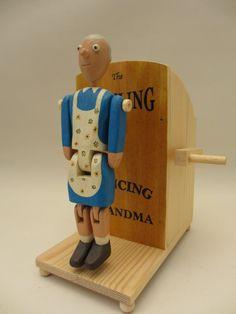 Dancing Grandma Automaton by TimDonaldAutomata on Etsy, £44.00
