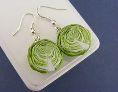 Cabbage Earrings by shayaaron on Etsy, $23.00    This girl makes AMAZING real-looking food earrings. I have the cabbages and they are to DIE for. Love them!!