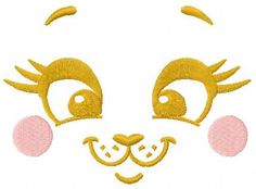 happy bunny face free embroidery design. Machine embroidery design. www.embroideres.com