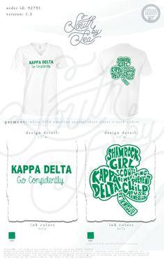 Kappa Delta | KD | Kappa Delta Philanthropy | Kappa Delta Shamrock | KD Shamrock Designs | South by Sea | Sorority Shirts | Sorority Tanks | Greek Shirts | Go Confidently