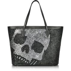 Philipp Plein Big Skull - Large Shimmering Tote found on Polyvore