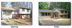 pinterest front porch on split level house | Corey Alan Homes | Home Improvements :: Renovations :: Basements ...