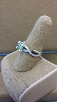 Custom made Platinum green diamond engagement ring #custom #engagementring #engagement #ring