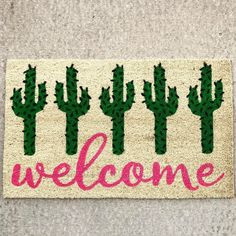 Cactus welcome mat