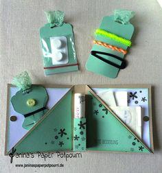 jpp - Reise Notfall-Kit / travel emergency kit / Stampin' Up! Berlin / Eulenstanze / owl punch / Framelits Etikett-Kunst / Drehstempel Alphabet / Perpetual Birthday calendar / Eins für alles / Grußelemente / gewellter Anhänger  www.janinaspaperpotpourri.de Cute Crafts, Crafts To Make, Crafts For Kids, Perpetual Birthday Calendar, Envelope Book, Diy Presents, Diy Birthday, Stamping Up, Potpourri