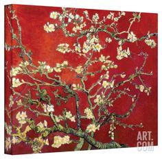 Vincent van Gogh 'Red Blossoming Almond Tree' Canvas Stretched Canvas Print by Vincent van Gogh at Art.com