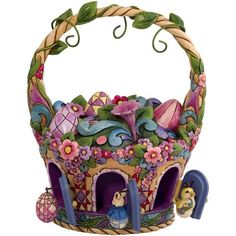 Jim Shore Easter basket with ornaments