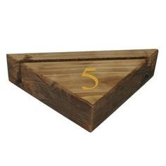 Dark Oak Solid Wooden Triangular Menu Blocks with Printed Table Number for All Restaurants, Bars & Hotels & in Stock for Next Day Delivery. Wood Menu, Menu Holders, All Restaurants, Menu Design, Table Numbers, Solid Wood, Triangle, Printed, Dark