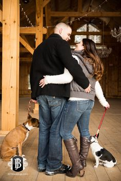 Granite Ridge Estate & Barn winter engagement photos.