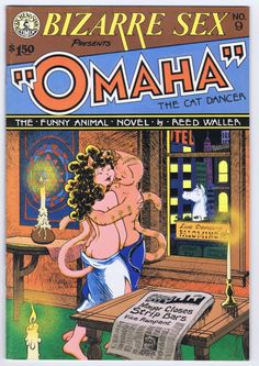 Bizarre Sex#9(1980) the first appearance of Omaha The Cat Dancer by Reed Waller. This series would bridge the gap between the underground and alternative comix depictions of hardcore sex as not so much social commentary or shock value,but as a natural and meaningful depiction of a relationship integral to the story and plot.
