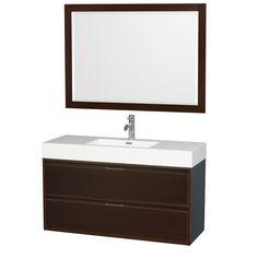 Daniella 47 Single Espresso Bathroom Vanity Set with Mirror with Price : $ 1029.99