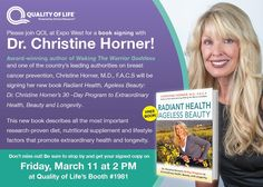 Join us at Expo West for a book signing with Dr. Christine Horner! #Doctor #ExpoWest #BookSigning #Events