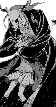 The Ancient Magus' Bride. I want this manga so bad. This is my fucking aesthetics covering eyes pose situation dark Manga Anime, Art Anime, Manga Art, Character Inspiration, Character Art, Character Design, Magus Bride Manga, Chise Hatori, Elias Ainsworth