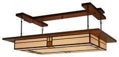 Arts & Crafts Style, Prairie Light Fixture Vintage #909 craftsman-ceiling-lighting