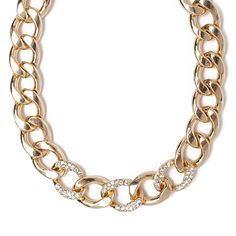 I love the All the Rage Crystal Chain Link Necklace from LittleBlackBag