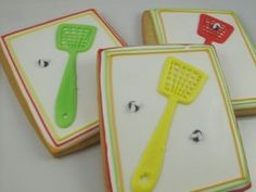 fly swatter cookies!!