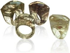 Gold & Red variants of Rutilated Quartz - very bold design, not sure where it's from...