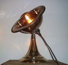 Converted-Rustic-Vintage-Heat-Lamp-Adjustable-Industrial-Steampunk-Table-Light