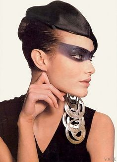 """Shalom Harlow photographed for """"Vogue"""" by Irving Penn - March, 1997."""